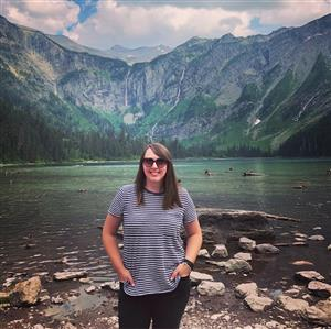 Ms. Schuelke in Glacier National Park