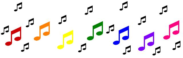 Rainbow Music Notes